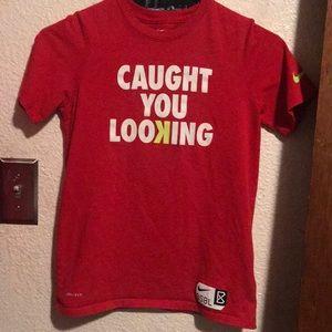 Boys size medium dri fit red Nike T-shirt